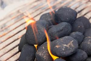Anflammende BBQ Briquettes