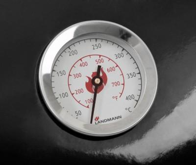 Landmann Black Pearl Holzkohle Kugelgrill Thermometer